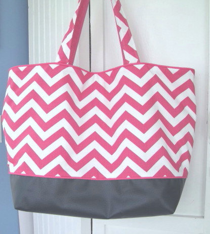 Large Beach Bag With Zipper