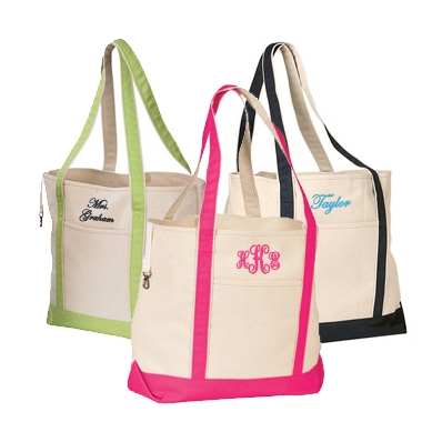 Monogrammed Tote Bags All Fashion