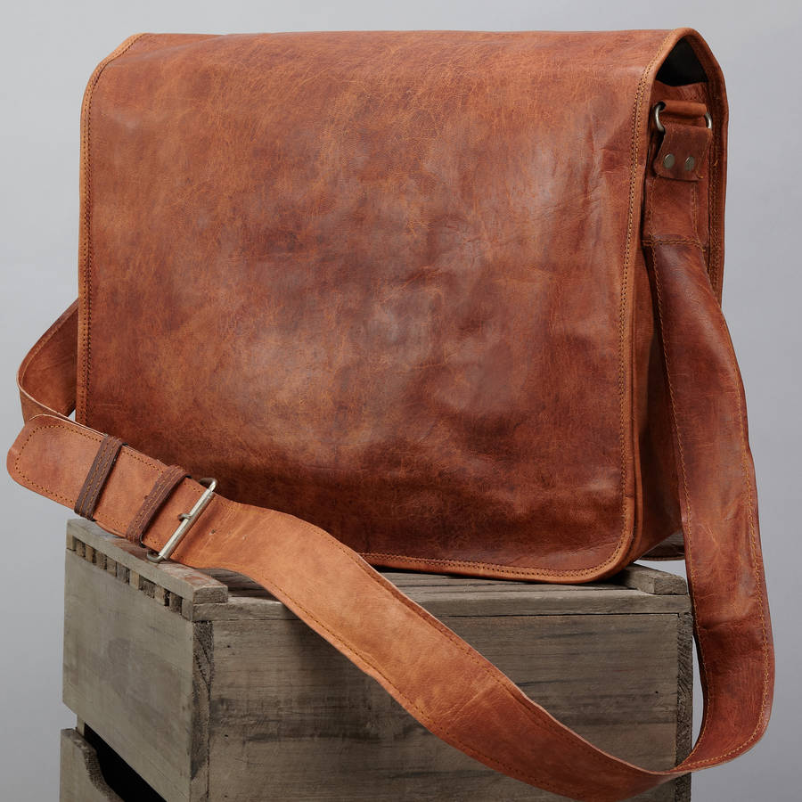 Brown Leather Messenger Bag 89c14ba5ede5
