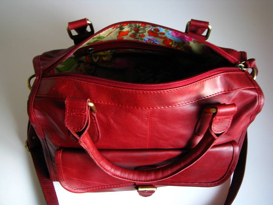 Red Leather Satchel Bags