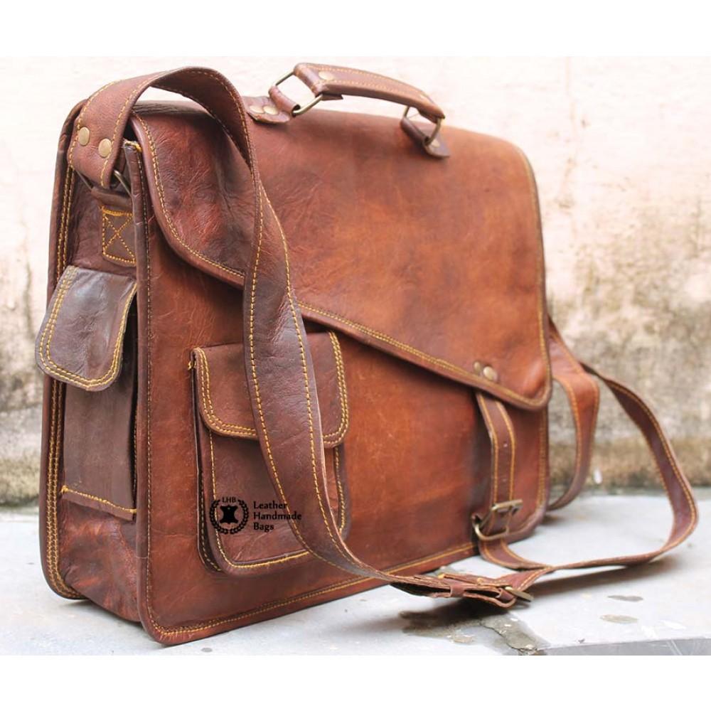 12f1abbf67 Vintage Leather Messenger Bag for Women
