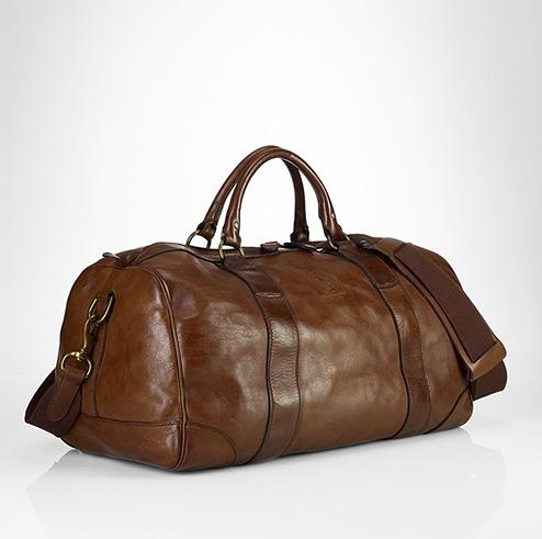 af61d606dd Leather Gym Bags for Men