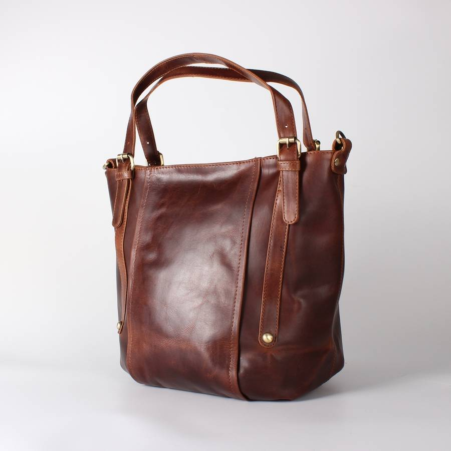 Brown Leather Tote Bag 8e25402d63ba6