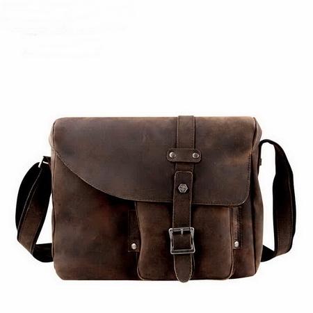 Distressed Leather Crossbody Bag