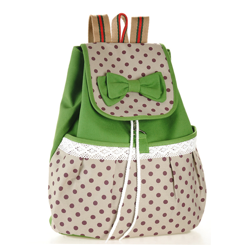 55f399140aab Polka-dotted School Bags for Girls