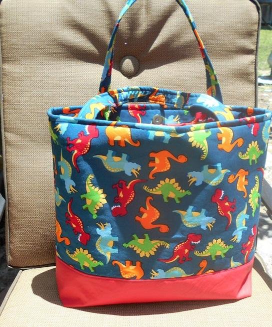 Dinosaurs in Brown Purse Diaper Bag
